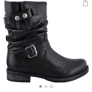 Soft black leather boots from Aldo in manhattan.